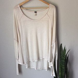 We The Free Cream Dolman Long Sleeve Flowy Top